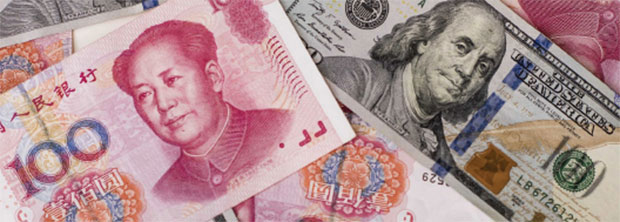 U.S. ONE-HUNDRED DOLLAR BILLS AND CHINESE ONE-HUNDRED YUAN BANKN