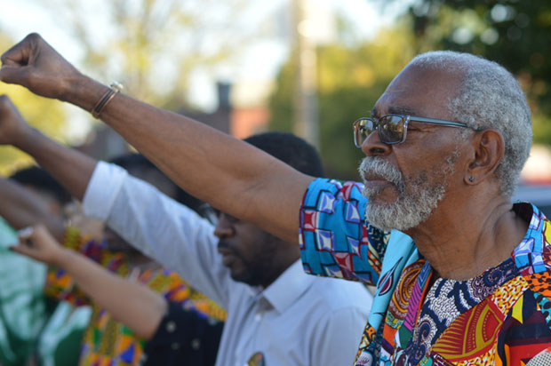 Chairman Omali leads flag salute at APSP Seventh Congress